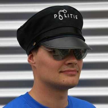 Carnavalskleding politie verkleedsetje politiepet zonnebril helmond