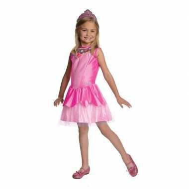 Carnavalskleding prinses jurkje roze tiara meisjes helmond