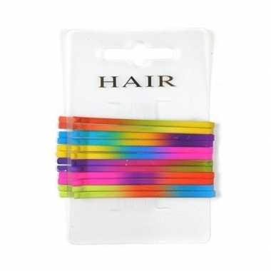 Carnavalskleding regenboog haarspeldjes schuifjes . helmond
