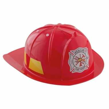 Carnavalskleding rode brandweerhelm verkleed accessoire kind helmond