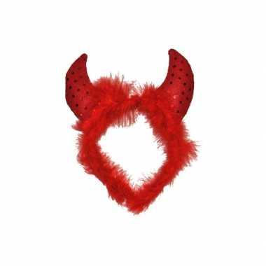 Carnavalskleding rode duivel haarband dames helmond