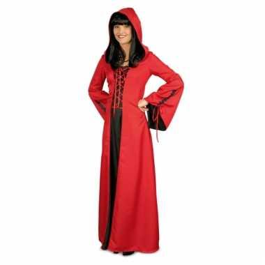 Zwart Rode Jurk.Carnavalskleding Rode Middeleeuwse Jurk Zwart Helmond