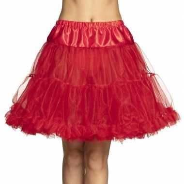 Carnavalskleding rode rock 'n roll petticoat dames helmond