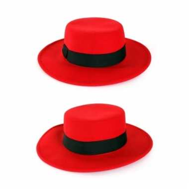 Carnavalskleding rode spanjaard hoed helmond