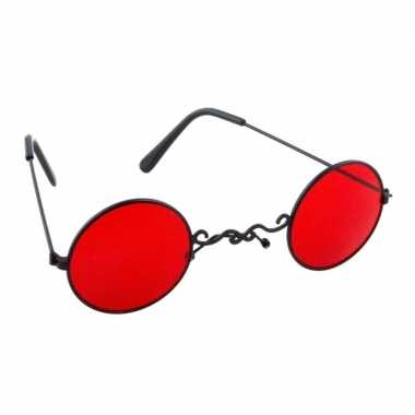 Carnavalskleding rode vampier feestbril volwassenen helmond