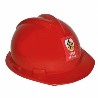 Carnavalskleding rode verstelbare brandweerhelm verkleed accessoire v
