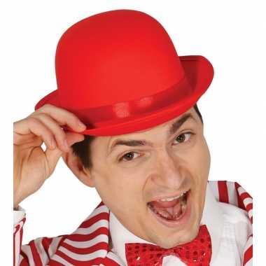 Carnavalskleding rood bolhoedje volwassenen helmond