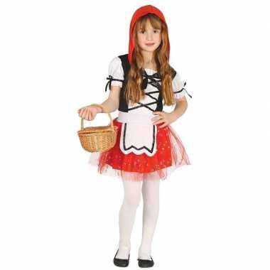 Carnavalskleding roodkapje jurk cape meisjes helmond