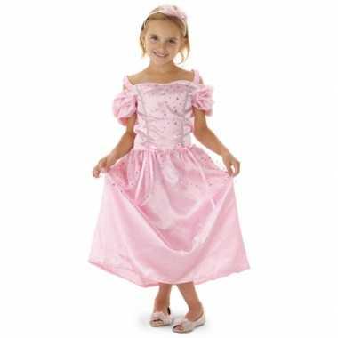 Carnavalskleding roze sprookjes prinsessen jurk meisjes helmond