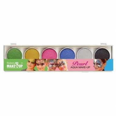 Carnavalskleding schmink set glitter make up kleuren helmond