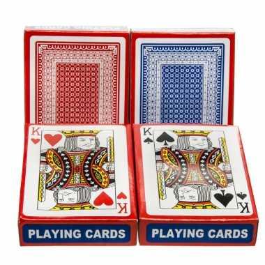 Carnavalskleding set poker/kaartspel speelkaarten geplastificeerd helmond