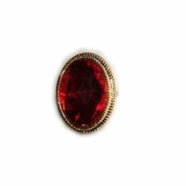 Carnavalskleding sinterklaas ringen rode steen helmond