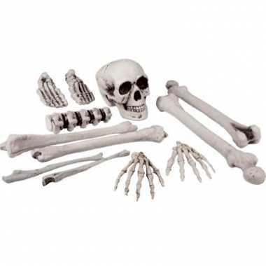 Carnavalskleding skelet beenderen zak stuks helmond