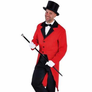 Carnavalskleding slipjas rood bijpassende hoed maat l helmond