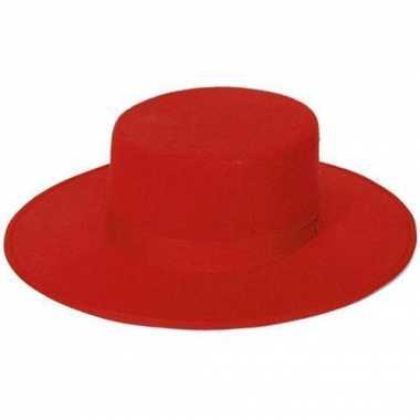 Carnavalskleding spaanse hoeden rood helmond