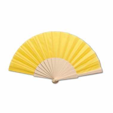 Carnavalskleding spaanse waaier geel helmond