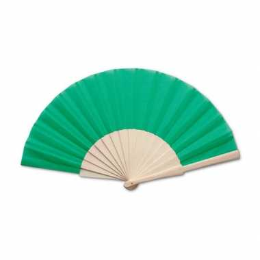 Carnavalskleding spaanse waaier groen helmond