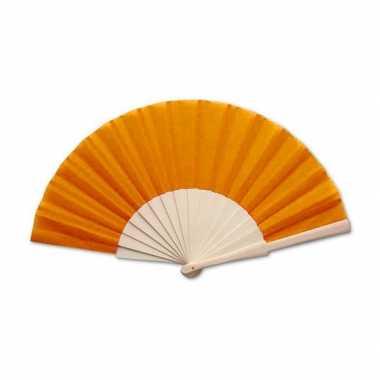 Carnavalskleding spaanse waaier oranje helmond