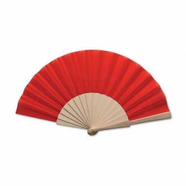 Carnavalskleding spaanse waaier rood helmond