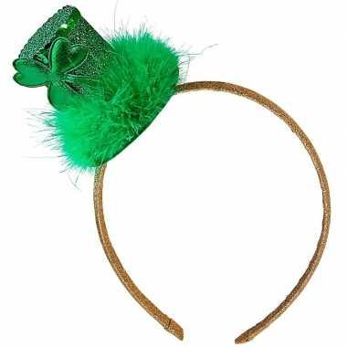 Carnavalskleding st. patricks day feest hoedje haarband dames helmond