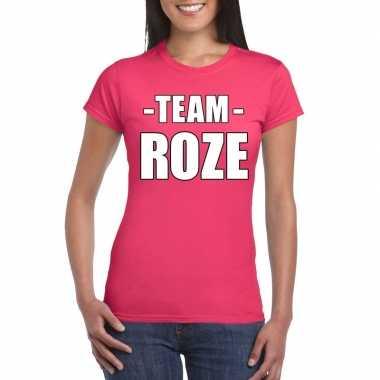 Carnavalskleding team shirt roze dames bedrijfsuitje helmond