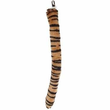 Carnavalskleding tijger staarten pluche helmond