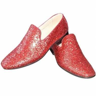 Carnavalskleding toppers rode glitter pailletten disco loafers/instap