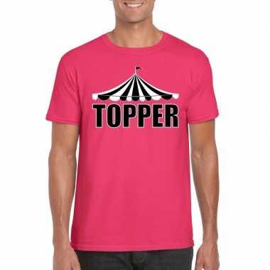 Carnavalskleding toppers t shirt roze topper heren helmond