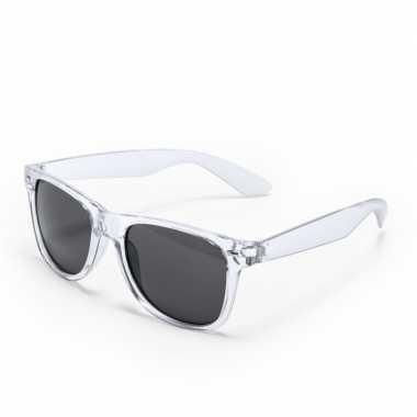 Carnavalskleding toppers transparante verkleed accessoire zonnebril v