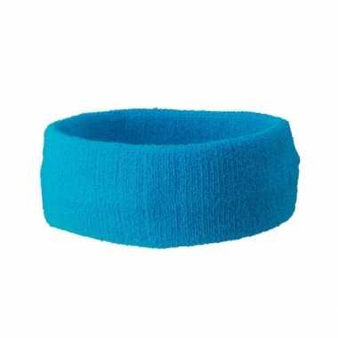 Carnavalskleding turquoise gekleurde hoofdbandjes helmond