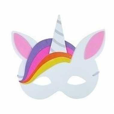 Carnavalskleding unicorn oogmasker foam type helmond