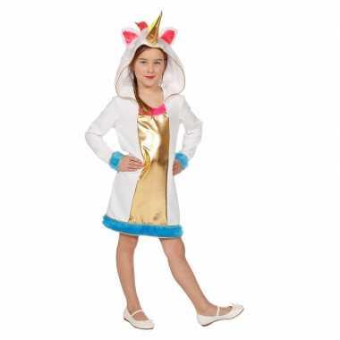 Carnavalskleding unicorn verkleedjurk meisjes helmond
