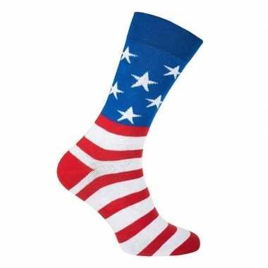 Carnavalskleding usa / amerika feest carnaval sokken volwassenen helm