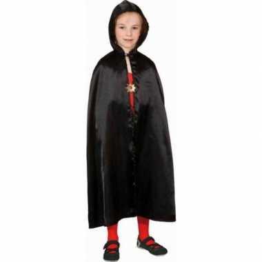 Carnavalskleding verkleed cape zwart kinderen helmond