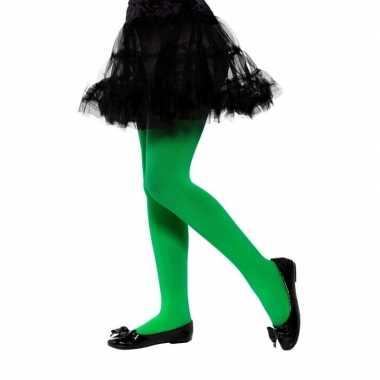 Carnavalskleding verkleed legging groen kinderen jaar helmond