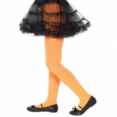 Carnavalskleding verkleed legging oranje kinderen jaar helmond