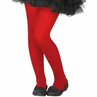 Carnavalskleding verkleed panty rood kinderen helmond