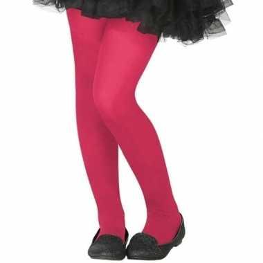 Carnavalskleding verkleed panty roze kinderen helmond