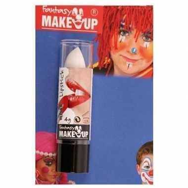 Carnavalskleding verkleed witte lipsticks/lippenstiften mat helmond