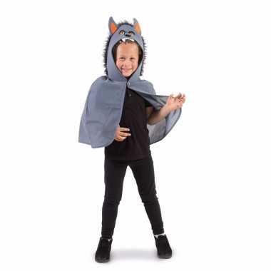 Carnavalskleding verkleedcape halloween grijze weerwolf helmond