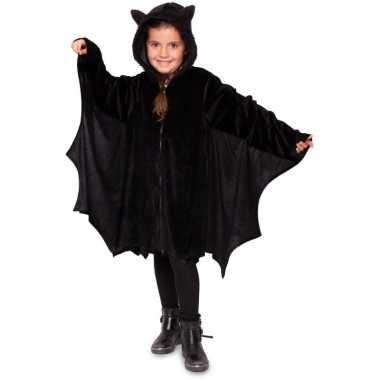 Carnavalskleding vleermuis jas zwart jongens/meisjes helmond