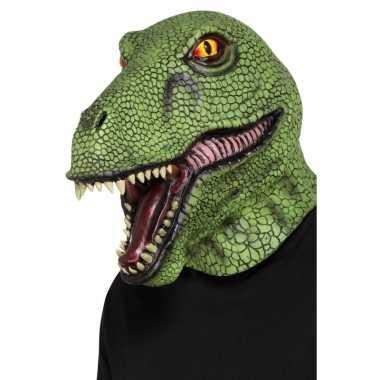 Carnavalskleding volledige hoofdbedekkend dinosaurus masker volwassen