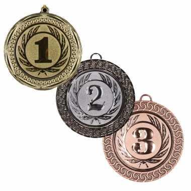 Carnavalskleding winnaars medailles set e, e e helmond