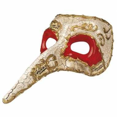 Carnavalskleding wit venetiaans masker heren helmond