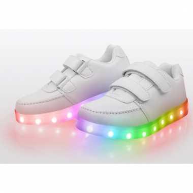 Carnavalskleding witte disco sneakers kinderen maat helmond