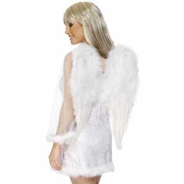 Carnavalskleding witte engelenvleugels dames helmond