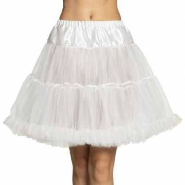 Carnavalskleding witte rock 'n roll petticoat dames helmond