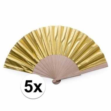 Carnavalskleding x carnavalaccessoires gouden waaier cm helmond