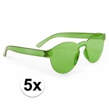 Carnavalskleding x groene partybril volwassenen helmond