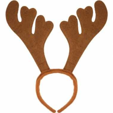 Carnavalskleding x kerst feest/party gewei bruine hoofdband volwassen